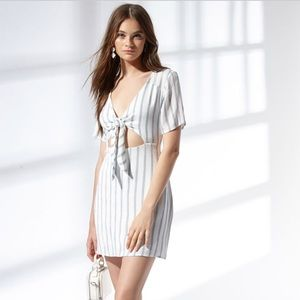 Pacsun LA Hearts Tie Front striped dress